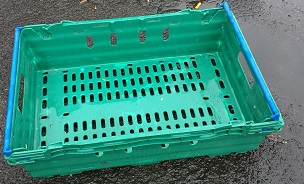 600x400x150 Bale Arm Crates Green - Blue Arms