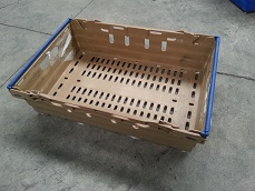 600x400x175 Bale Arm Crate Tan - Blue Arms