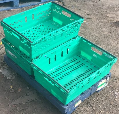 Bale Arm Crates on dble dolly