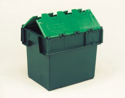 400x300x320 Two Tone Green Lidded Container (25 Ltr)