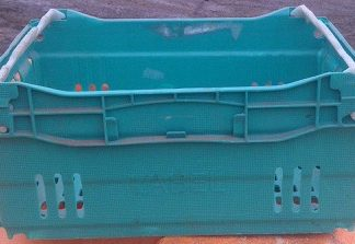 400x300x185 Bale Arm Crate – Green – Grey Arms