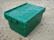 Lidded Crate 600x400x350 alc - Green