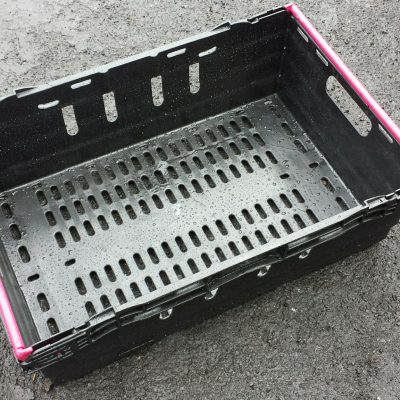 600x400x200 Bale Arm Crates - Black - Pink Arms