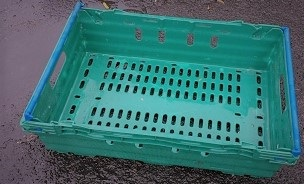 600x400x200 Bale Arm Crate Green - Blue Arms