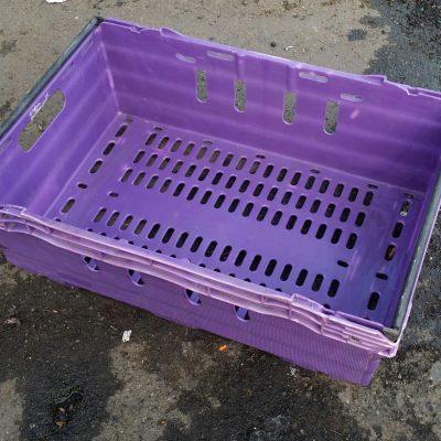 600x400x200 Bale Arm Crate Purple - Black Arms