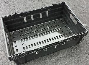 600x400x250 Bale Arm Crate Black - Grey Arms