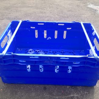 600x400x250 Bale Arm Crate Blue - White Arms