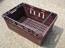 600x400x250 Bale Arm Crate Burgandy - Black Arms