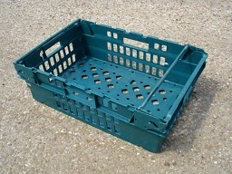 600x400x250 Bale Arm Crates - Dark Green - Green Arms