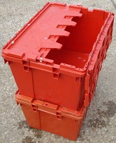 Lidded Crate 600x400x300 alc - Red