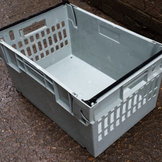 600x400x300 Bale Arm Crate Grey - Black Arms