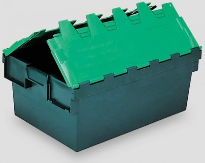 600x400x365 Two Tone Green Lidded Container (64 Ltr)