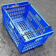 600x400x300 Bale Arm Crate Blue-Black Arms