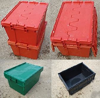 600x400x350 Lidded Crate - Green Red Black