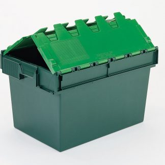 600x400x320 Two Tone Green Lidded Container (54 Ltr)
