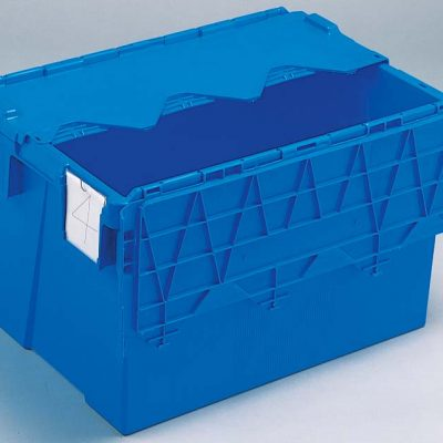 600x400x365 Blue Kaiman Tote Boxes Lidded Container (65 Ltr)