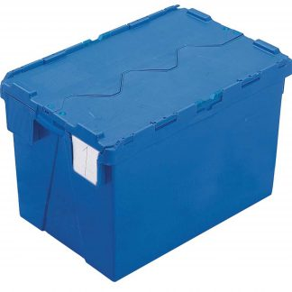 600x400x400 Blue Kaiman Tote Boxes Lidded Container (70 Ltr)
