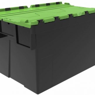 600x400x365 Green Lidded Crate