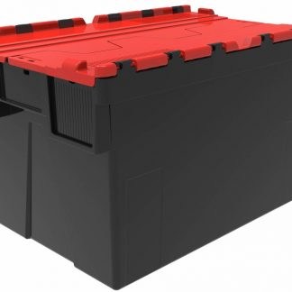 600x400x365 alc Red Lidded Crate