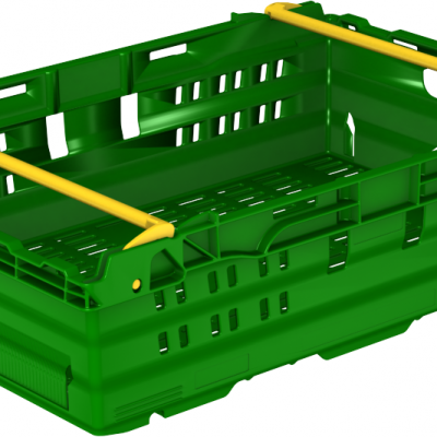 600x400x167 Green Bale Arm Crate