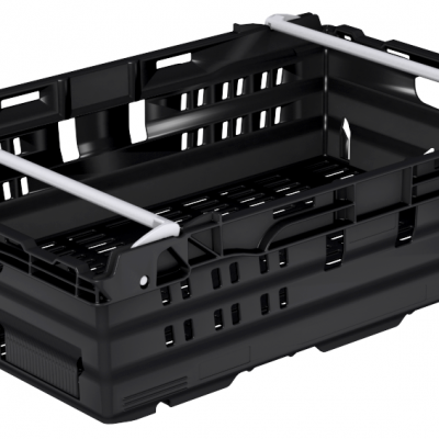 600x400x245 Black Bale Arm Crate
