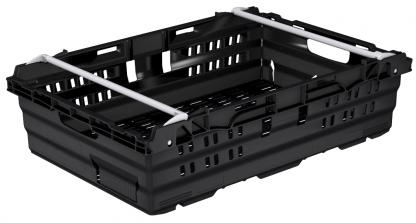 600x400x245 Black Bale Arm Crate