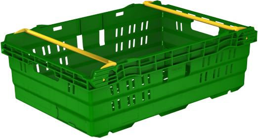600x400x190 Green Bale Arm Crate