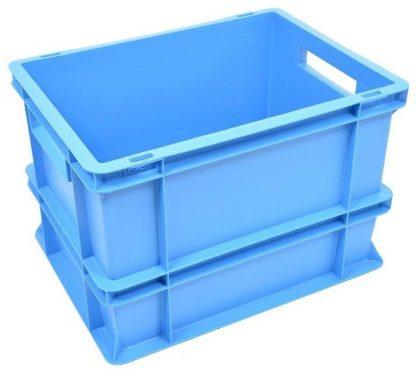 400x300x275 Eurobox Blue Solid