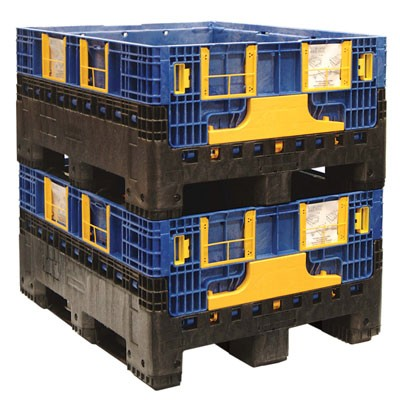 1200x1000x595 Folding Pallet Box Stacked