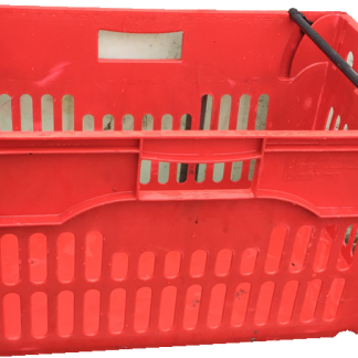 600x400x300 Bale Arm Crate red